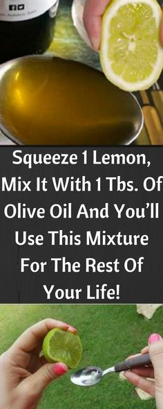 Squeeze 1 Lemon, Mix It With 1 Tbs. Of Olive Oil And You'll Use This Mixture For The Rest Of Your Life!