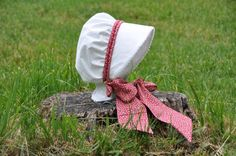 Summer Calico Baby Bonnetwith color options by norabeesbonnets