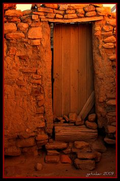 Door at Acoma Sky City Pueblo