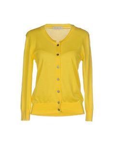 BALLANTYNE Women's Cardigan Yellow 10 US