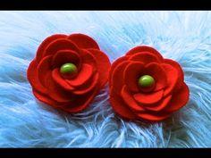 D.I.Y  Flor em Feltro com Circulos - Flower,Tutorial - YouTufior be