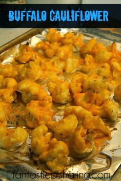 Buffalo Cauliflower | A healthy alternative to hot wings that goes perfectly with pizza or burgers!