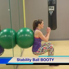 Do you want a butt like J Lo? (The answer is yes) You'll want to incorporate this move next time you're working booty. CLICK for video.  #fitness #stabilityball #glutes #health