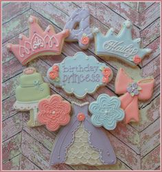 Fairytale Princess Handmade and Decorated Cookies by FlourishCakes Etsy