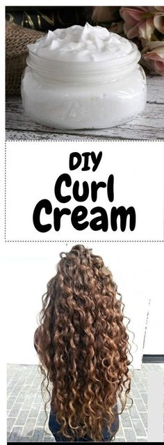 An all natural DIY curl cream that uses pure aloe vera gel, coconut oil, and shea butter to give you the healthiest, bounciest curls you've ever had! If you have curly or wavy hair, this DIY curl cream recipe will be right up your alley! Instead of satura Curly Hair Tips, Curly Hair Styles, Natural Hair Styles, Natural Curly Hair, Thick Curly Hair, Hair Tips Dyed, Style Curly Hair, Braids For Curly Hair, Naturally Wavy Hair