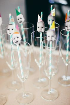 love this! photo + straws, would probably pull stupid faces or print a pic of each guest!