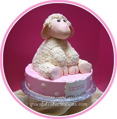 Little Lamb Baby Shower Cake