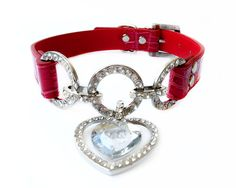 One Tail Four Paws Clear Heart Collar, Medium, Rose/Red ** To view further, visit now : Collars for dogs