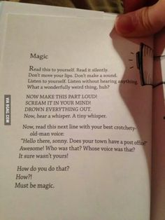 I did it and, yeah so weird.. magic; )