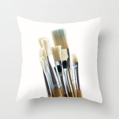 Gift for Artists Watercolor Enthusiast Pillow by CrystalGaylePhoto