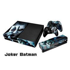 The Cosines Stickers Microsoft Xbox One Protective Vinyl Designer Skins Stickers for Console and Two Wireless Controller Decal  The Joker Smile Face Batman Poker Play Card ** Learn more by visiting the image link.Note:It is affiliate link to Amazon. #XboxGames
