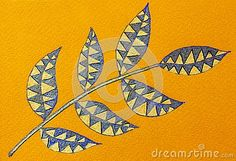 Illustration about A bright colorful gel pen sketch of leaves on a yellow paper background. Illustration of marker, drawing, artwork - 137769775 Yellow Paper, Pen Sketch, Gel Pens, Paper Background, Outline, Leaves, Bright, Colorful, Abstract
