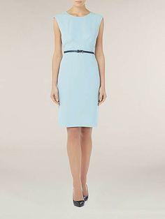 Ice blue shift dress