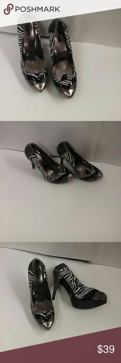 Ladies zebra print shoes By charlotte russe 3x1 Shoes Heels