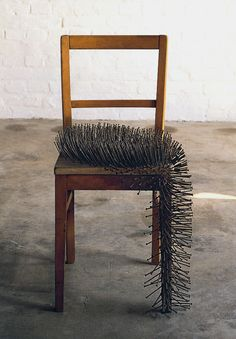 likeafieldmouse:Gunther Uecker - Chair II (1963)