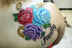 Family tattoo with roses