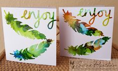 Hiding in My Craft Room: HIMCR #366 - Use Die Cuts! Feather Cards, Die Cutting, Room, Crafts, Bedroom, Manualidades, Rooms, Handmade Crafts, Craft