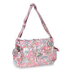 Kalencom Laminated Single Buckle Diaper Bag in Cotton Candy Paisley Pink - BedBathandBeyond.com $80