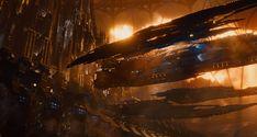 The Jupiter Stockworks - Balem Abrasax's (Eddie Redmayne) ship docking at the Stockworks in the final film. - Jupiter Ascending – Official Look Book