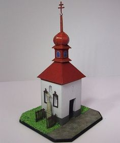 Church in Vidonín Free Building Paper Model Download - http://www.papercraftsquare.com/church-in-vidonin-free-building-paper-model-download.html#1100, #BuildingPaperModel, #Church
