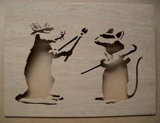This stencil is hand cut from regular plywood and has been sanded until smooth.  Use it as a stencil to spray the image onto walls, paper, canvas,
