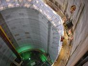 Lee Tunnel breaks records with slipform concrete pour, June 2013, London