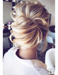 Lovely loose French twist bun