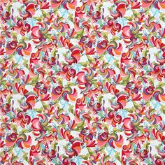 colorful In the Bloom colorful bird flowers fabric by Robert Kaufman  4