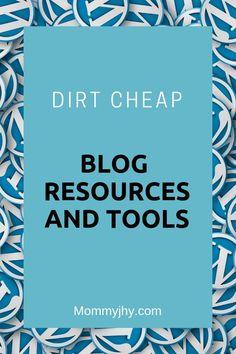 Dirt Cheap Blog Tools_Wordpress_Mommyjhy #BlogTools #BlogResources #DirtCheap #Blogging