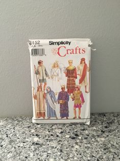 Nativity or biblical costume pattern from 1992 Simplicity 8152 adult sizes XS-XL UNCUT Mary Joseph shepard kings & angel Christmas Pageant by GiftGarbBags on Etsy
