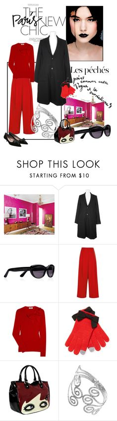 """The New Paris Chic"" by agathap ❤ liked on Polyvore featuring Lara, Elle, Julien David, Yves Saint Laurent, River Island, Moschino Cheap & Chic, Kate Spade, Lulu Guinness and Tabitha Simmons"