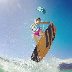 Kitesurfing. I want to be able to do this!