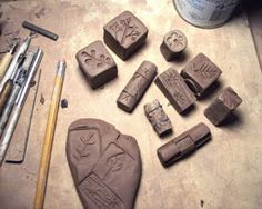LaPella Art: Carving Clay Stamps Tutorial