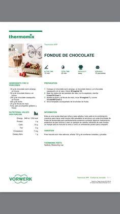 Thermomix fondue de chocolate