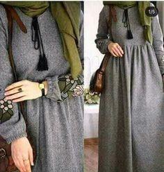 Maxi dresses with hijab styles – Just Trendy Girls Modesty Fashion, Abaya Fashion, Muslim Fashion, Fashion Dresses, Emo Fashion, Hijab Style Dress, Hijab Look, Hijab Outfit, Stylish Dresses For Girls