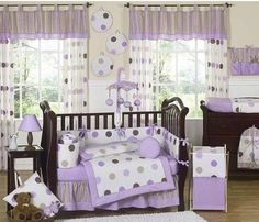 Baby Crib Bedding | Nursery Bedding Sets with Circles and Polka Dots