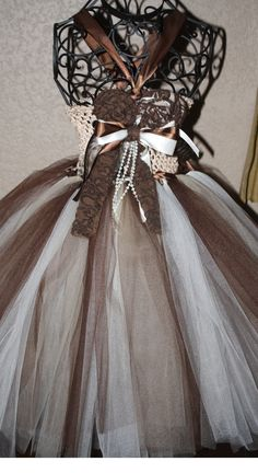 Brown and ivory vintage crochet top tutu/tulle dress for weddings, flower girl, photoprop, fall weddings. $55.00, via Etsy. Sven Costume, Fall Wedding, Dream Wedding, Wedding Ideas, Vintage Crochet, Crochet Top, Reindeer Costume, Frozen Birthday Party, Dress Makeup