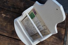 Shabby Chic Wall Mail Organizer / Vintage by JMFindsandDesigns