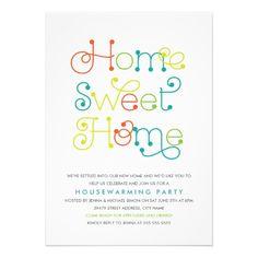 Fun & Whimsical Housewarming Party Invitation.  $1.95