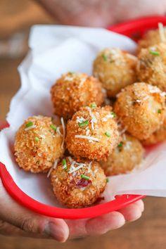 Loaded Mashed Potato Balls will make you so happy