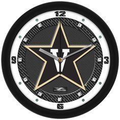 Mens Vanderbilt Commodores - Carbon Fiber Textured Wall Clock