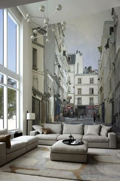 I love this mural it's so beautiful you feel like your living outside but very comfortably.