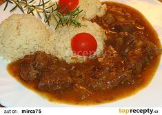 Hovězí na zázvoru a česneku recept - TopRecepty.cz 20 Min, Thai Red Curry, Chili, Soup, Ethnic Recipes, Chile, Soups, Chilis