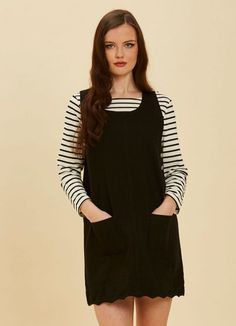 4d859c3e452b Jennifer Scallop Edge Pinafore Dress - Red en 2019 | Wishlist