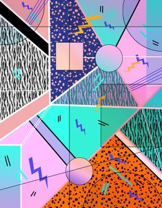 80s 90s Inspired Pattern and Graphics on Behance