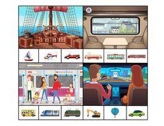 """Развивающая игра с прищепками для детей """"Мы едем, едем, едем ... угадай транспорт"""""""