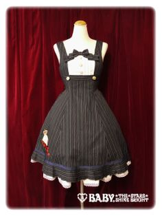alice and the pirates Love air mail appliquéd junper skirt