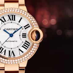 Capture her heart this with the de Cartier watch in pink gold and diamonds. Cartier Watches, Rolex Watches, Designer Collection, Precious Metals, Gold Watch, Pink And Gold, Diamonds, Jewels, Woman