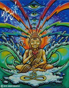 The Power WIthin Buddha Painting by (c)  Drew Brophy Nov 2013
