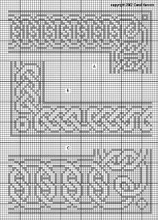Celtic border cross stitch patterns